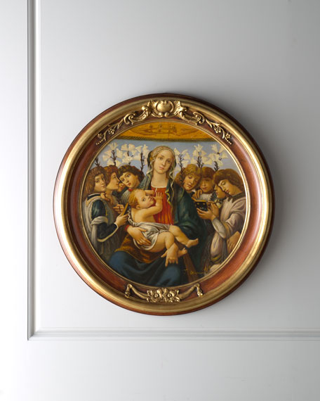 """Boticelli"" Madonna & Child Painting"