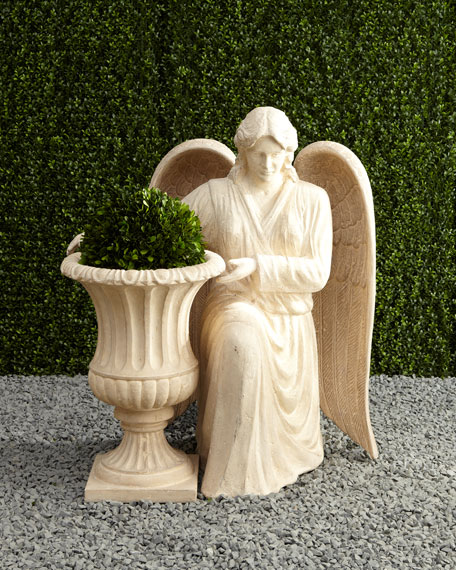 Outdoor Angel with Urn