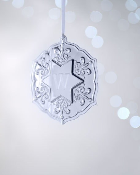 Monogram Star Christmas Ornament