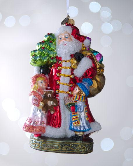 """Santa with Children"" Christmas Ornament"