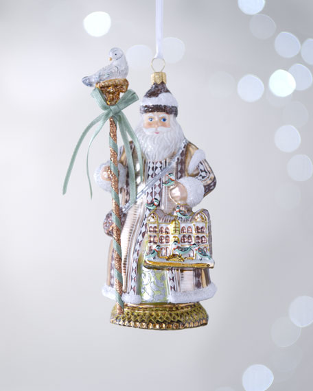 """Feathered Friends Santa"" Christmas Ornament"