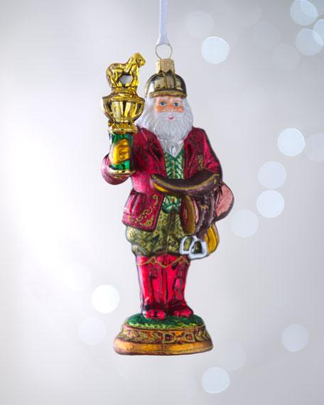 """Equestrian Santa"" Christmas Ornament"