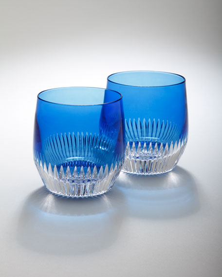 "Two ""Mixology"" Argon Blue Tumblers"