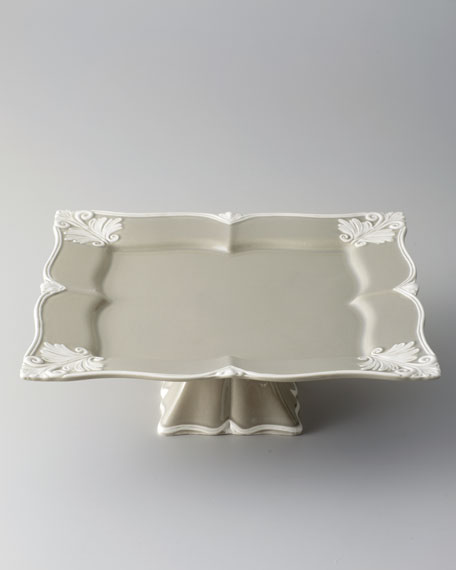 "Square ""Baroque"" Footed Cake Stand"