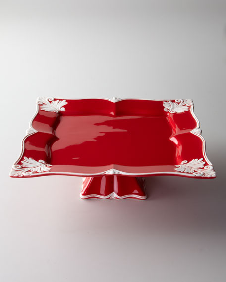 Square Baroque Footed Cake Stand