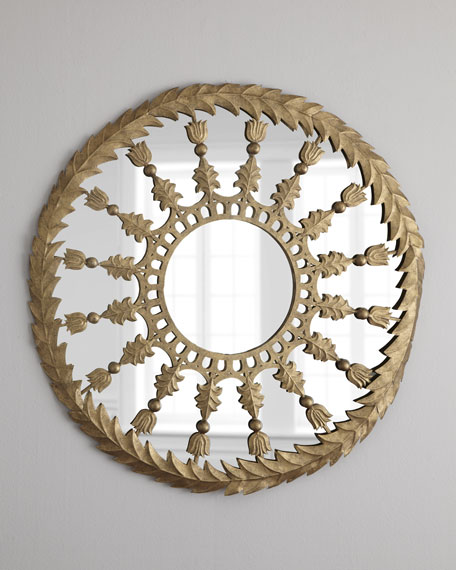 Golden Round Accent Mirror