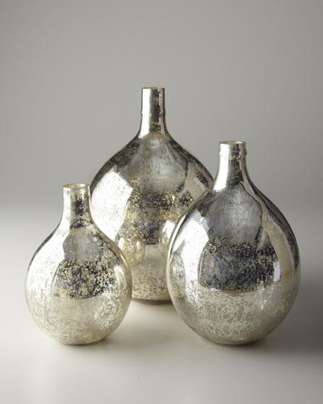 Antiqued Mirror-Glass Wine Spheres