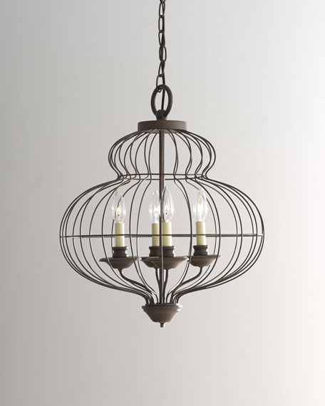 """Cage"" Chandelier"