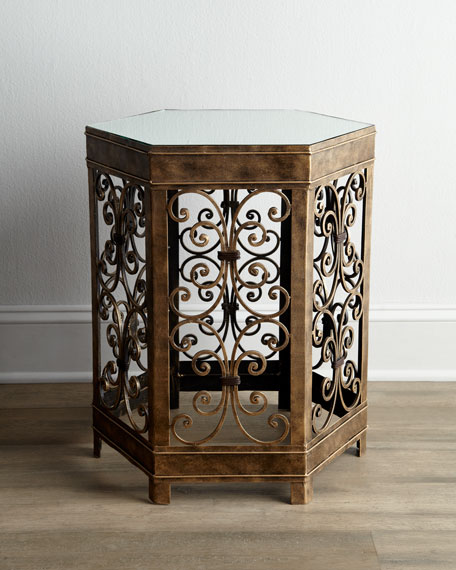"""Hex Scroll"" Side Table"