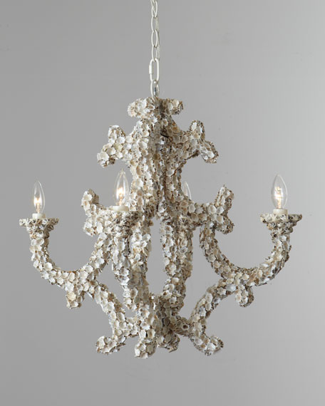 "Four-Light ""Leeza"" Shell Chandelier"