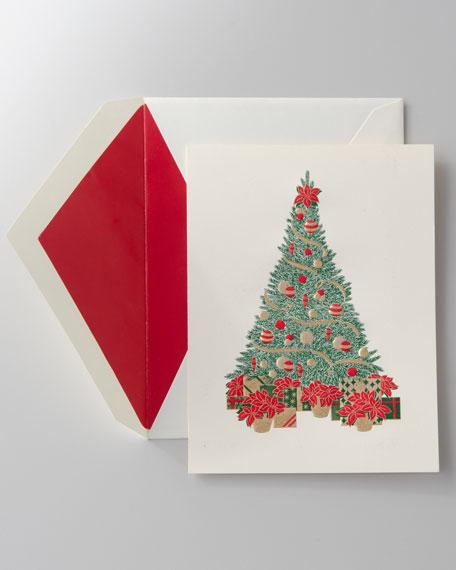 "50 Engraved ""Christmas Tree"" Christmas Cards"