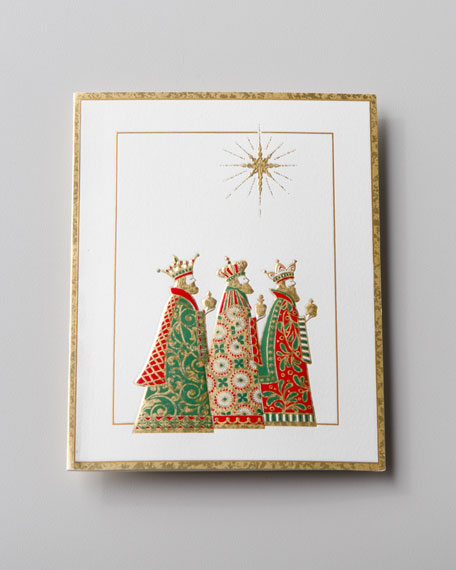 "50 ""Three Wise Men"" Embossed Christmas Cards"