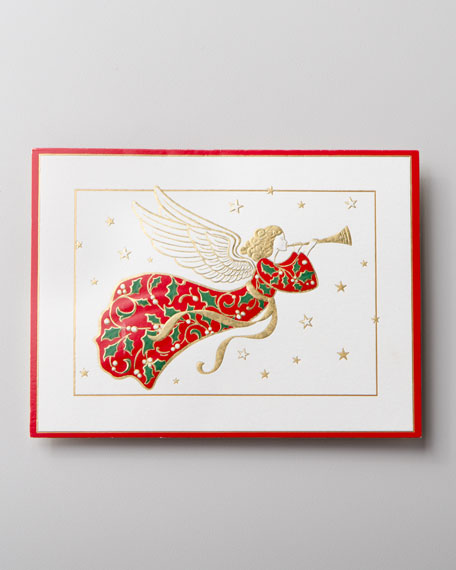 "50 ""Angel"" Embossed Christmas Cards"