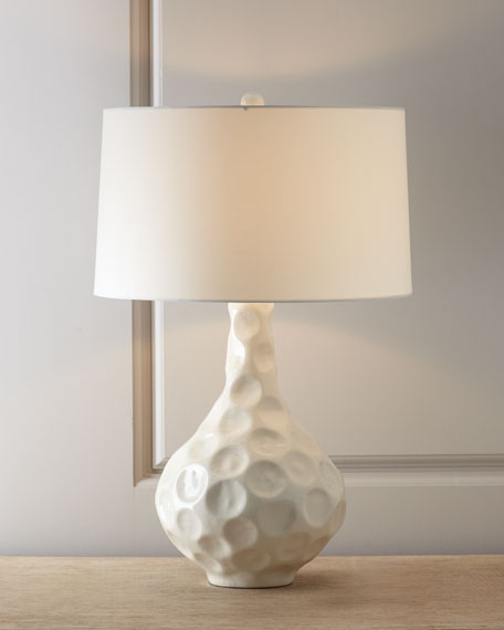 """Vagabond"" Crackle Porcelain Table Lamp"