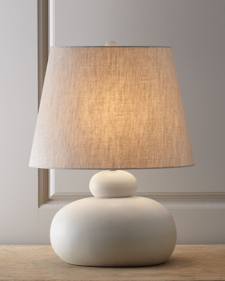 """Wyatt Clay"" Porcelain Table Lamp"