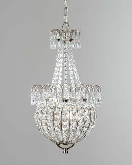 Crystal Teardrop Pendant Light