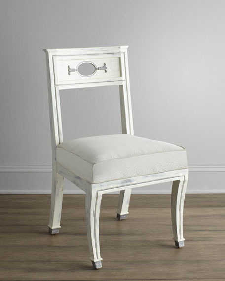"""Chaney"" Rubbed-White Chair"