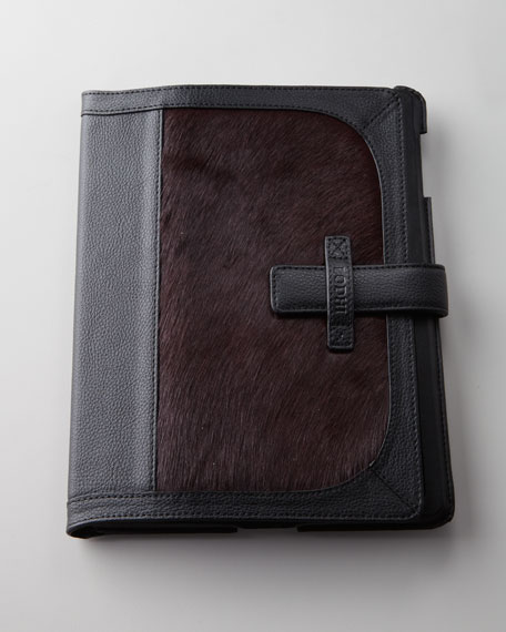 Hairhide-Trimmed iPad Easel Case