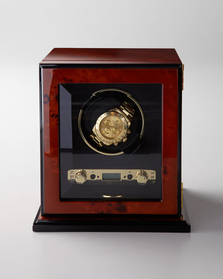 Burl Wood Single Watch Winder