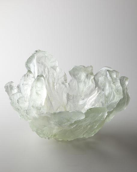 """Silver Frozen Water"" Bowl"