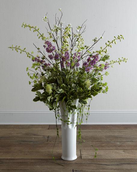 """""""Delphinium Blossom"""" Faux Floral Arrangement"""