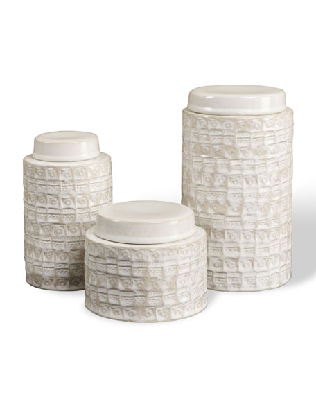 "Three ""Worsley"" Tea Jars"