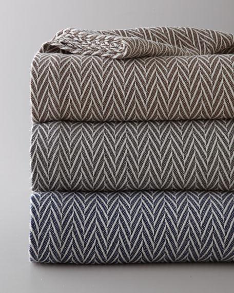 """King Herringbone Blanket, 114"""" x 96"""""""