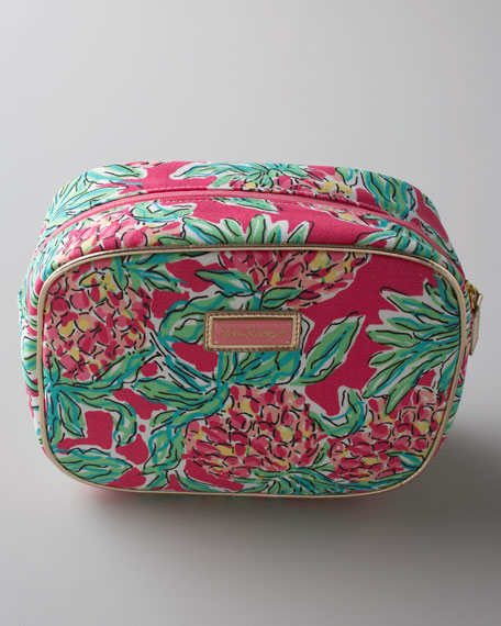 "Pink ""Spike Punch"" Cosmetic Bag"
