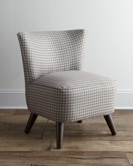 Houndstooth Vanity Chair