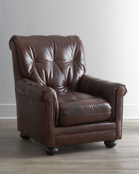 """Carmine"" Leather Chair"