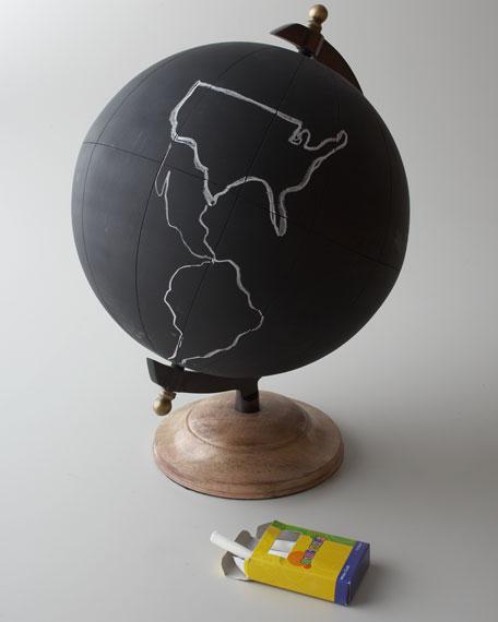 "Large ""Chalkboard"" Globe"
