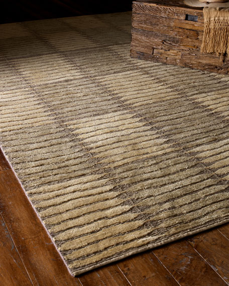 """Straw Blocks"" Rug, 9' x 12'"