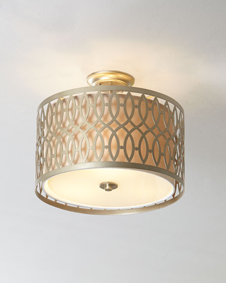 Geometric Flush-Mount Ceiling Fixture