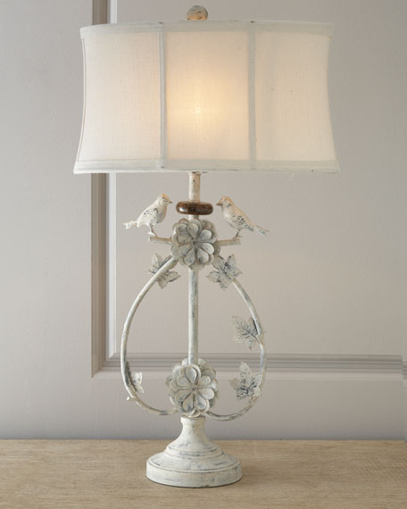 Ivory Quot Bird Quot Lamp