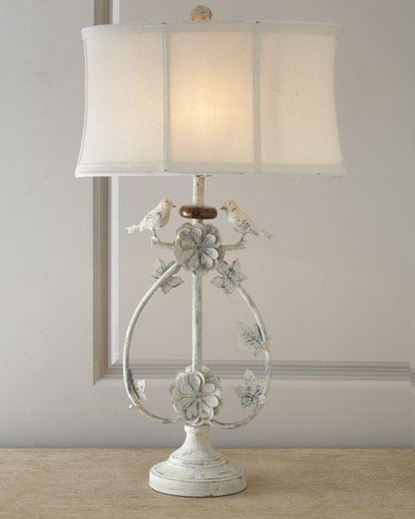 Ivory Bird Lamp