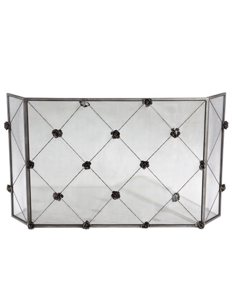 """Rose Trellis"" Fireplace Screen"