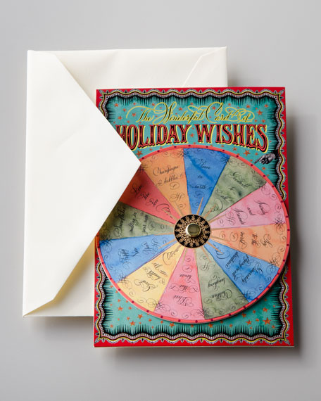 """Holiday Wishes"" Spinner Card"