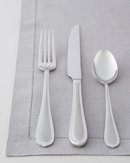 "Five-Piece ""Hampshire"" Matte Flatware Place Setting"