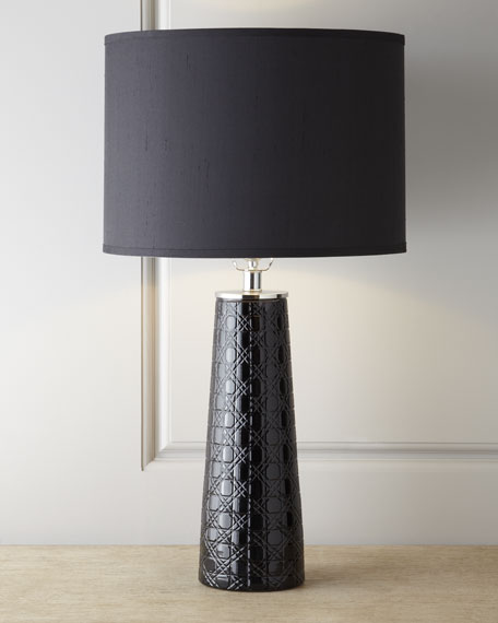 Etched Pillar Table Lamp