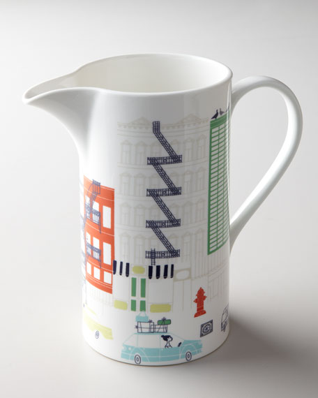 """About Town"" Pitcher"