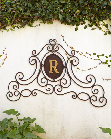 """Monogram Scroll"" Wall Grille"