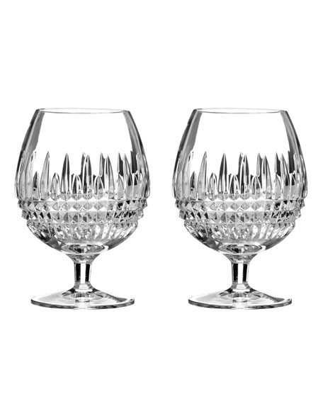 "Two ""Lismore Diamond"" Brandy Glasses"