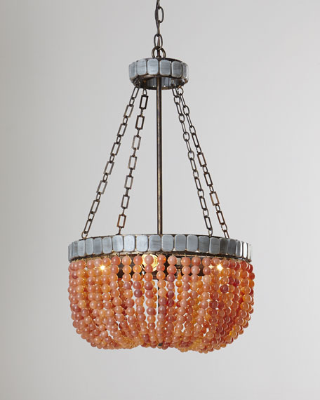 """Lana"" Apricot Beaded Chandelier"