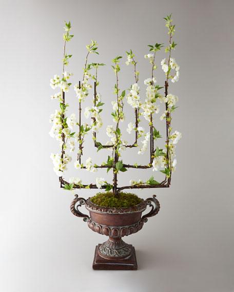 """""""Espalier En Fleur"""" Faux Floral Arrangement"""