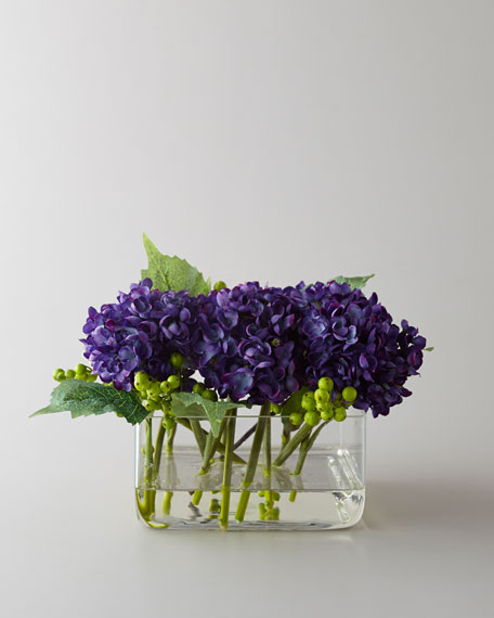 """Purple Beauty"" Faux Floral Arrangement"