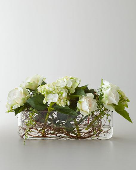 """Entwined Roses"" Faux Floral Arrangement"
