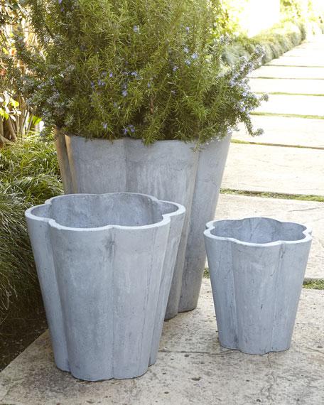 Three Scallop Planters
