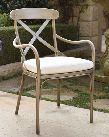"""Bordeaux"" Outdoor Bistro Armchair with Cushion"