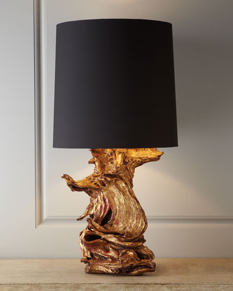 """Ashland"" Gold-Leaf Lamp"