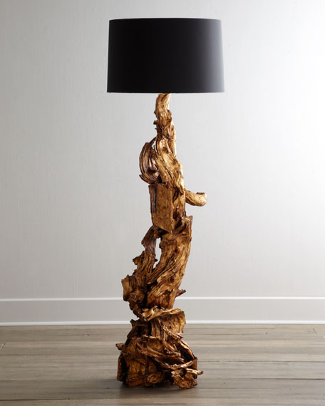 """Ashland"" Dragon-Root Floor Lamp"